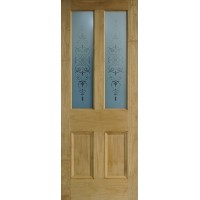 Regent etched glass door