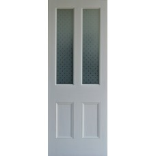 Promotion - Star etched glass door