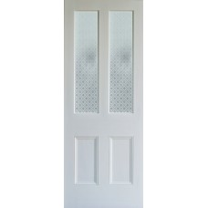 Bright Star etched glass door