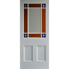 9 pane Blue Starburst Door