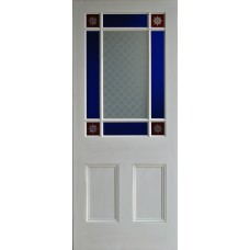 9 pane Red Starburst Door